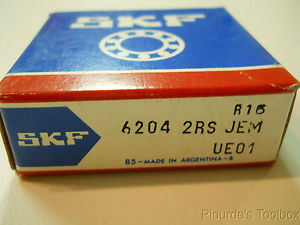 high temperature New SKF 20mm x 47mm x 14mm Sealed Ball Bearing, 6204-2RS-JEM