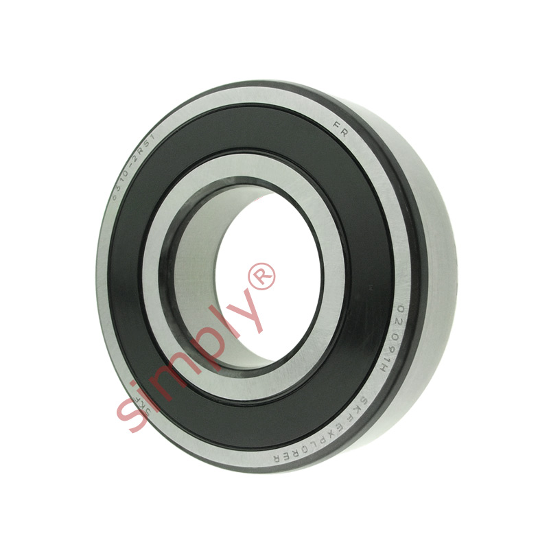 high temperature SKF 63102RS1 Rubber Sealed Deep Groove Ball Bearing 50x110x27mm