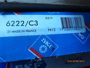 high temperature SKF 6222/C3 Ball Bearing New