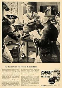 high temperature 1947 Ad SKF Inc Ball & Roller Bearing Benjamin Franklin – ORIGINAL TCE1