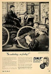 high temperature 1946 Ad SKF Industries Ball & Roller Bearing Automobile – ORIGINAL TCE1