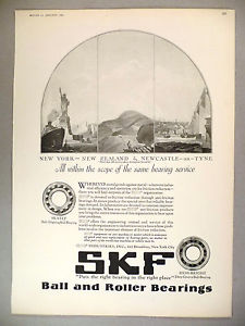 high temperature SKF Ball & Roller Bearing PRINT AD – 1925 ~~ bearings