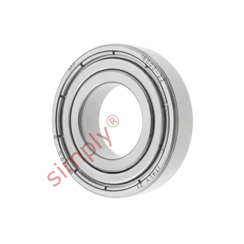 high temperature SKF 160032Z Metal Shielded Deep Groove Ball Bearing 17x35x8mm