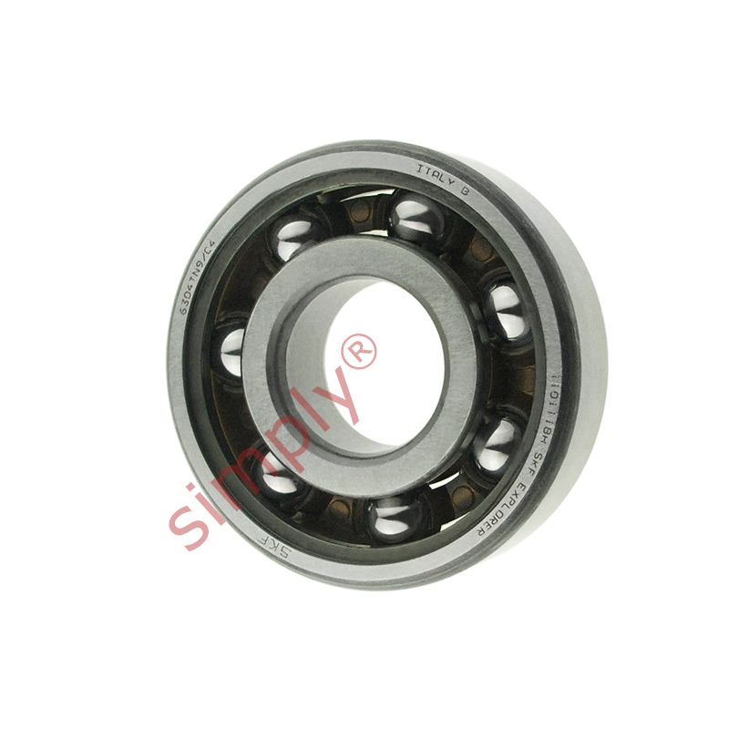 high temperature SKF 6304TN9C4 Open Deep Groove Ball Bearing with Fibre Cage 20x52x15mm