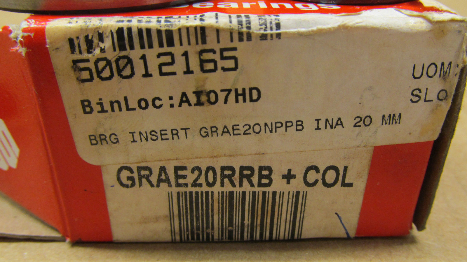 high temperature 1 NIB TORRINGTON GRAE20RRB + COL GRAE20RRBCOL RADIAL/DEEP GROOVE BALL BEARING