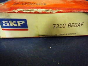 high temperature SKF 7310 BEGAF Single Row Angular Contact Ball Bearing