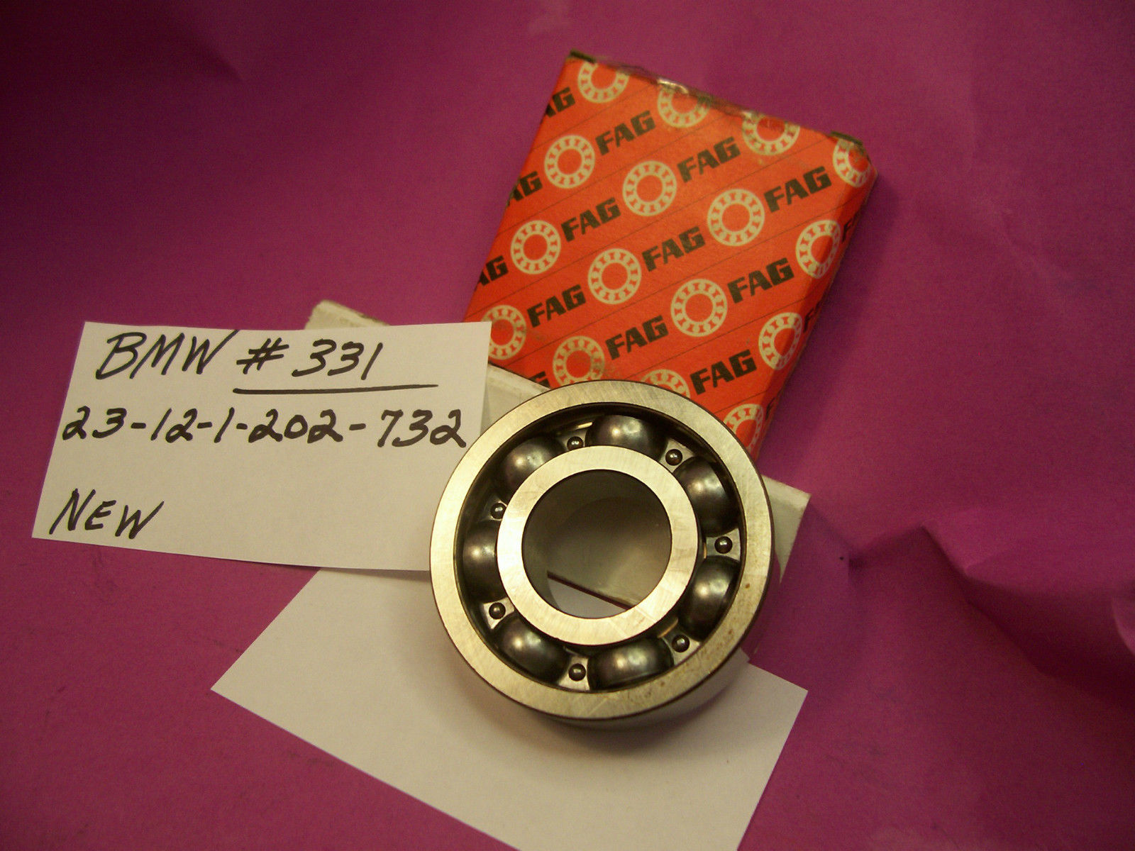 high temperature BMW GROOVED BALL BEARING    23 12 1 202 732         FAG _