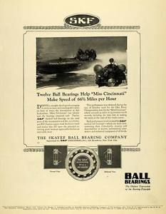 high temperature 1923 Ad SKF Ball Bearings Skayef Industries Cincinnati Ohio Plane Engine SCA3