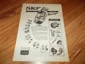 high temperature SKF ball & roller bearings of Luton-1949 magazine advert
