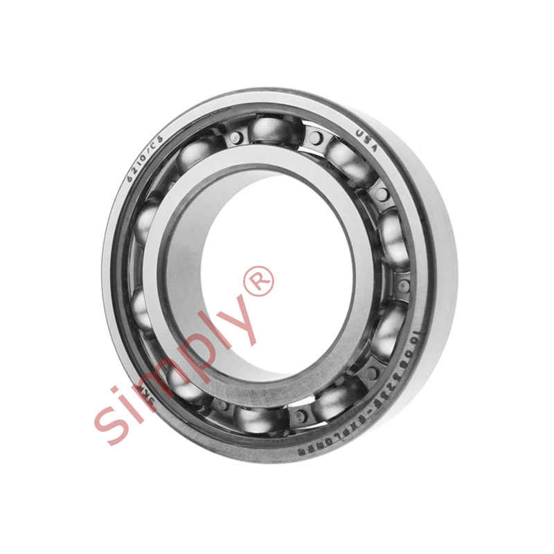 high temperature SKF 6210C3 Open Deep Groove Ball Bearing 50x90x20mm