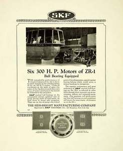 high temperature 1924 Ad Hess-Bright Manufacturing SKF Industries Motor ZR-1 Ball Bearing SCA4