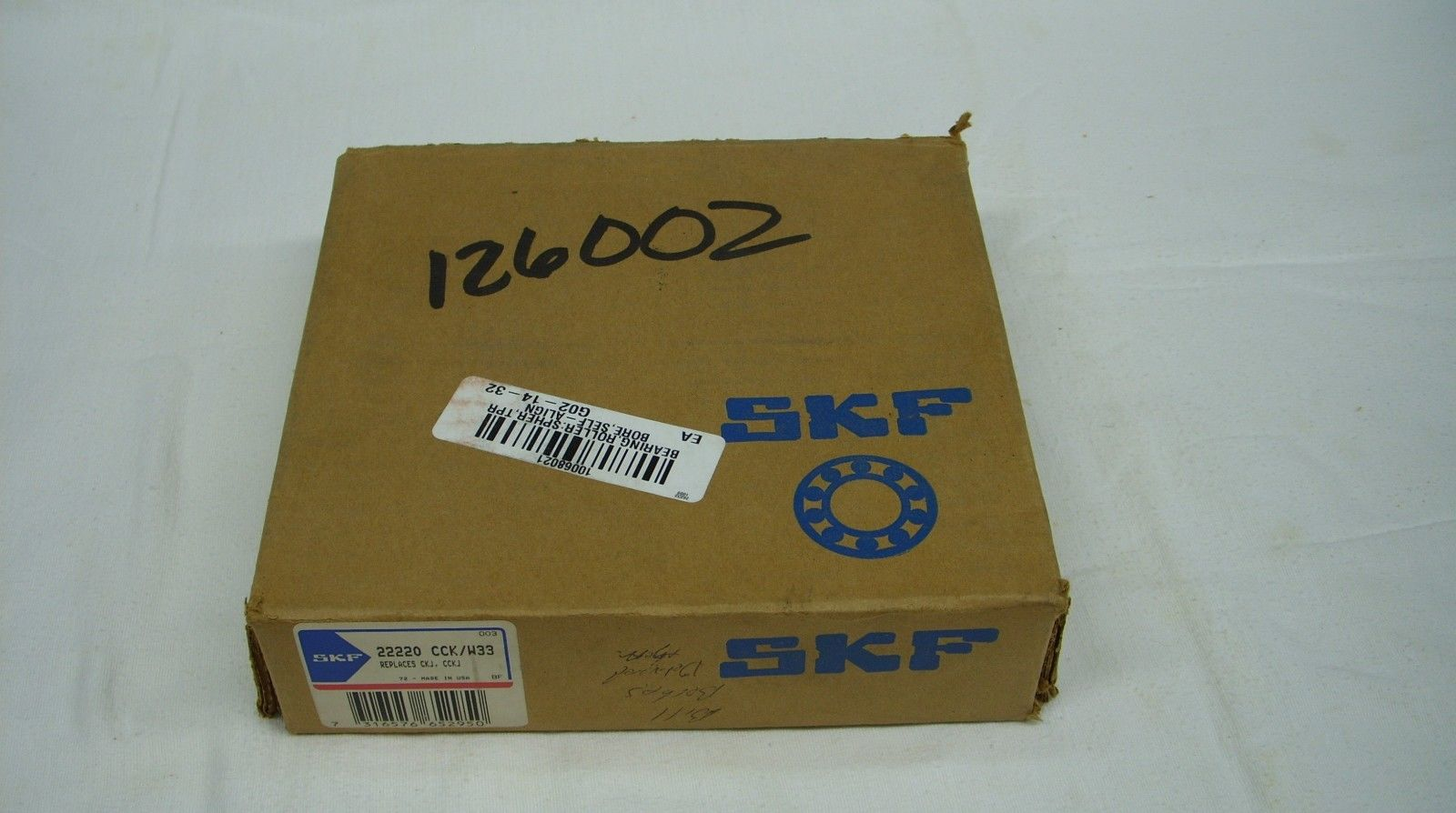 high temperature SKF / FAG – SELF ALIGNING SPHERICAL ROLLER BEARING 22220 CCK/W33 –  *SEALED*