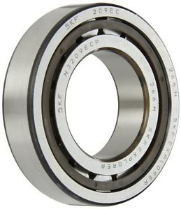 high temperature SKF NJ 209 ECP Cylindrical Roller Bearing, Removable Inner Ring, Flanged, High