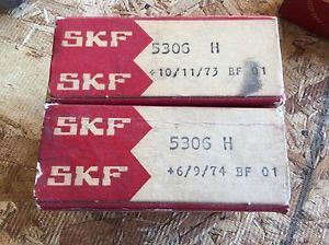 high temperature 2-SKF Bearings, Cat# 5306 H, comes w/30day warranty, free shipping