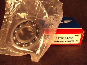 high temperature SKF 1202ETN9, 1202 ETN9, Double Row Self-Aligning Bearing