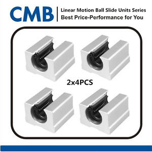 high temperature 8PCS SBR12UU 12mm Open Linear Bearing Slide Linear Motion Tested Before Shipping