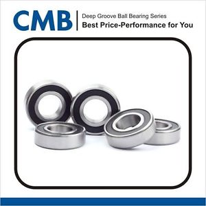 high temperature 5PCS 609-2RS Rubber Sealed Ball Bearing 609 2rs 9 x24 x 7mm