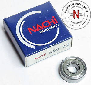 high temperature NACHI 609ZZ DEEP GROOVE BALL BEARING, 9mm x 24mm x 7mm, FIT C0, DBL SEAL