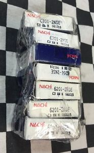 high temperature Lot Of 8, Nachi Bearing 6201-2NSE, 62012NSE, C3XM*060915, Shipsameday #1638A4