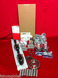 high temperature Dodge 241 Hemi Master engine kit 1953 54 pistons rings gaskets bearings chain+