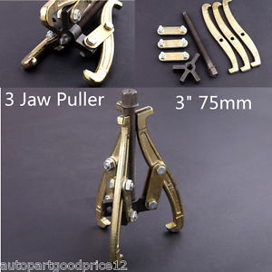 "high temperature 3"" 75mm 3 Jaw Gear Puller with Reversible Legs for External and Internal Pulling"