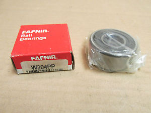 high temperature NIB FAFNIR W304PP BEARING RUBBER SHIELD BOTH SIDES W304 PP  20x52x22 mm