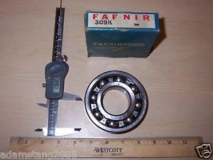 "high temperature  FAFNIR 309K BALL BEARING 1.772""ID X 3.936""OD x .987""W"