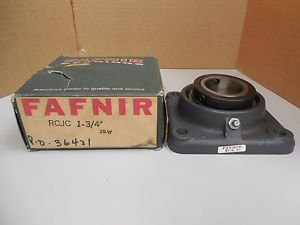 "high temperature FAFNIR 4-BOLT FLANGE BEARING RCJC 1-3/4"" RCJC1-3/4"" RCJC134 W/ COLLAR NIB"