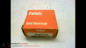 high temperature FAFNIR 204PP4 BALL BEARING DEEP GROOVE BALL BEARING 20MM ID 45MM W,  #162212