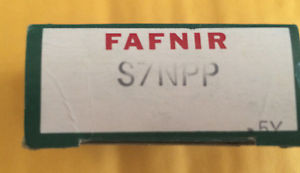 high temperature Fafnir S7NPP Shielded Ball Bearing   NOS
