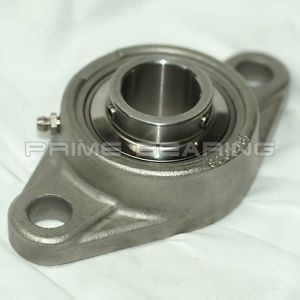 """high temperature High Quality!! SUCSFL206-18 1-1/8""""  Stainless Steel 2-Bolt Flange Bearing"""