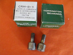 high temperature  OLD STOCK THE TORRINGTON CO. CAM FOLLOWER CRH-8-1 LOT 2 OF 2