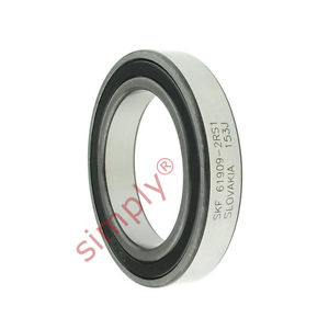 high temperature SKF 69092RS1 Rubber Sealed Thin Section Deep Groove Ball Bearing 45x68x12mm