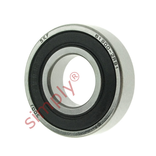 high temperature SKF 619002RS1 Rubber Sealed Thin Section Deep Groove Ball Bearing 10x22x6mm