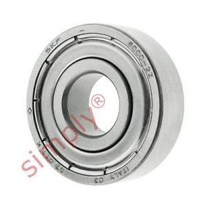 high temperature SKF 60002Z Metal Shielded Deep Groove Ball Bearing 10x26x8mm