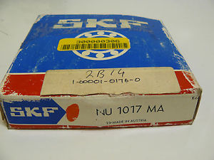 high temperature  SKF NU 1017 MA CYLINDRICAL ROLLER BEARING