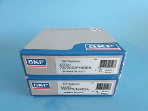 high temperature SKF 7207CD/P4ADBA ABEC7 Super Precision Contact Spindle Bearing (Matched Pair)