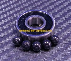 high temperature [QTY 4] 696-2RS (6x15x5 mm) Hybrid Ceramic Rubber Ball Bearing Bearings 696RS