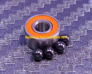 high temperature [QTY 1] S693-2RS (3x8x4 mm) Hybrid Ceramic Ball Bearing Bearings ABEC-7 693-2RS