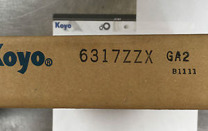 high temperature Koyo 6317ZZX Metric Deep Groove Ball Bearing Boxed