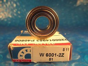 high temperature SKF W6001 2Z, Deep Groove Roller Bearing