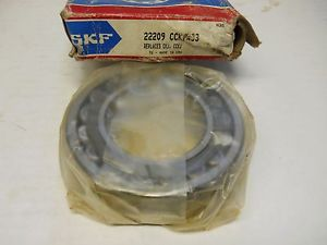 high temperature SKF 22209 CCK/W33 SPHERICAL ROLLER BEARING 45X85X23MM  CONDITION IN BOX
