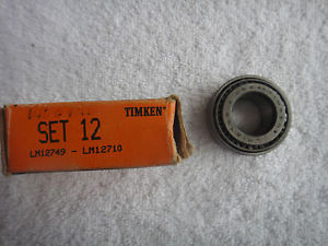 high temperature NIB Timken Bearing Cup & Cone Set     LM12749   LM12710