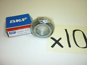 high temperature (10) SKF 32006 X/Q TAPERED ROLLER TRAILER BEARINGS