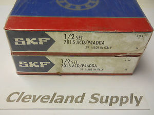 high temperature SKF 7015 ACD/P4ADGA PRECISION BEARING SET (MATCHED PAIR)  SEALED IN BOX