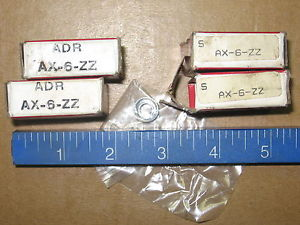 high temperature Lot of 4) Consolidated ADR SKF AX-6-ZZ Bearings New in Packages AX6ZZ