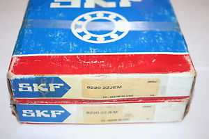 high temperature (Lot of 2) SKF 6220 2ZJEM Shielded Deep Groove Bearings (100 X 180 X 34) *  *