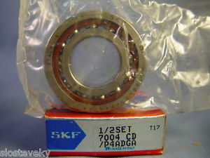 high temperature SKF 7004 CD/P4ADGA Angular Contact Bearing 1/2 Set