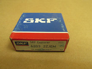 high temperature NIB SKF 6203 2Z BEARING METAL SHIELD BOTH SIDES 62032ZJEM C3 6203ZZ 17x40x12 mm