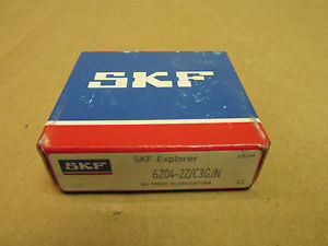 high temperature NIB SKF 6204 2Z BEARING METAL SHEILD 2 SIDES 6204ZZ 62042ZC3GJN 20x47x14 mm